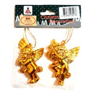 دکوری کریسمس مدل فرشته های طلایی ساخت تایلند