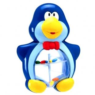 جغجغه و دندان گیر چیکو مدل پنگوئن آبی
