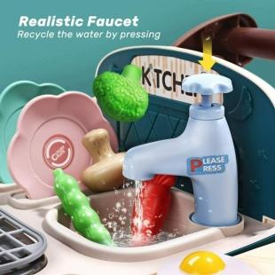 سینک ظرفشویی اسباب بازی سنسور دار مدل QF26243P