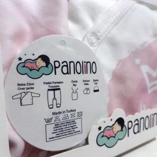 ست ۵ تکه بیمارستانی نوزاد برند Panolino مدل پرنسس صورتی