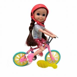 عروسک بچه باربی مفصلی مدل دوچرخه سوار