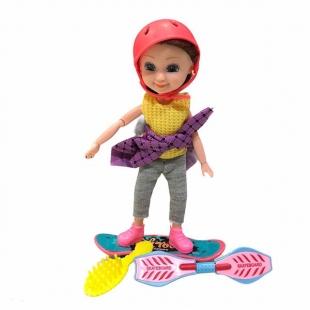 عروسک بچه باربی مفصلی مدل اسکیت سوار