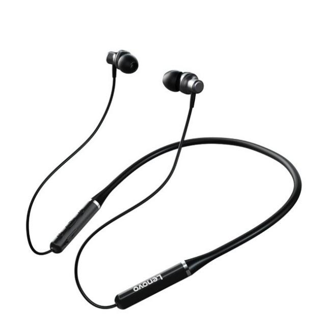 هندزفری بلوتوث لنوو Lenovo QE63 Neckband Bluetooth Earphone طراحی مگنتی
