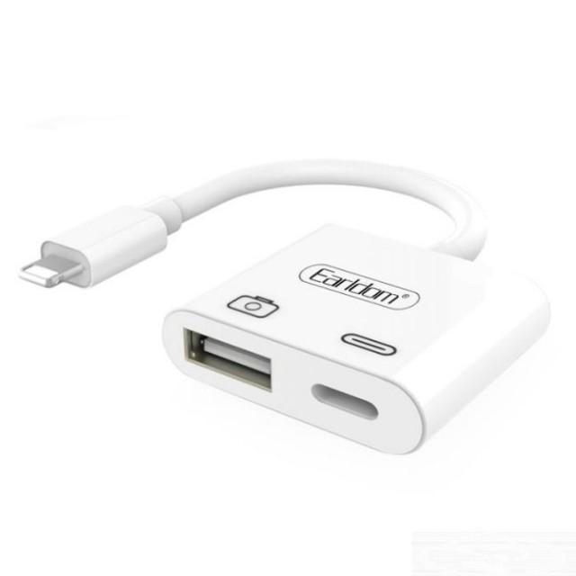 مبدل لایتنینگ به USB/لایتنینگ ارلدام مدل ET_OT43