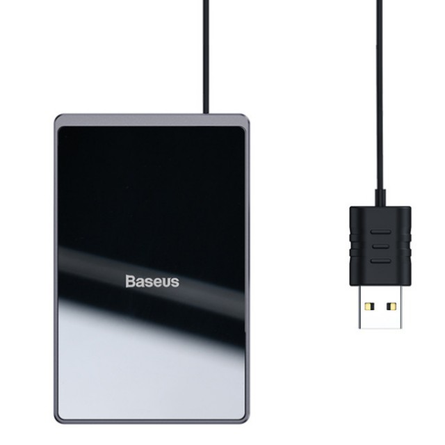 شارژر وایرلس مینی بیسوس Baseus Card Ultra-thin Wireless Charger WX01B-01 توان 15 وات