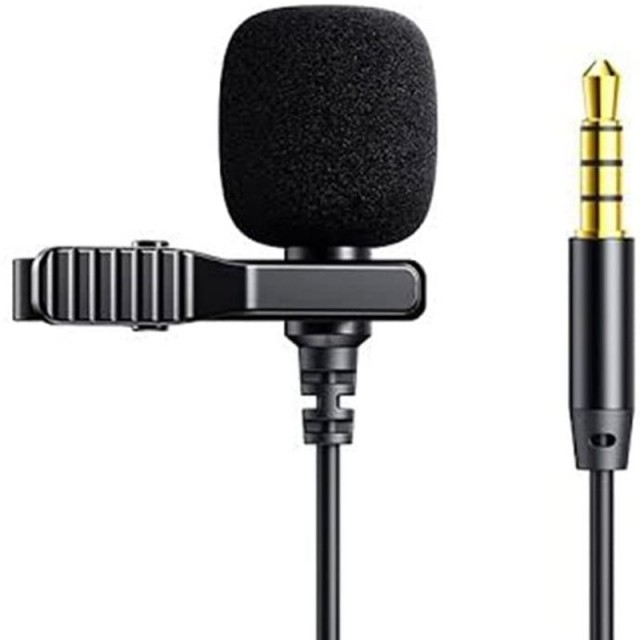 میکروفون سیم دار جویروم Joyroom JR-LM1 Lavalier Microphone 3.5mm Jack 3M طول 3 متر