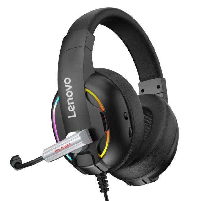هدفون سیمی گیمینگ لنوو Lenovo HU75 Color LED Adjustable Gaming Headset