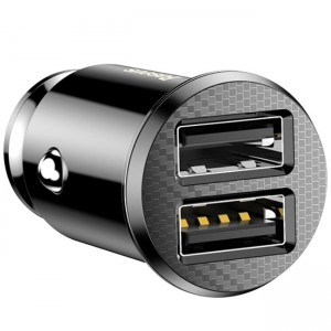 شارژر فندکی بیسوس Baseus Grain Dual USB Car Charger