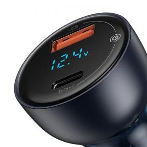 شارژر فندکی سریع دو پورت بیسوس Baseus Particular Digital Display Quick Car Charger