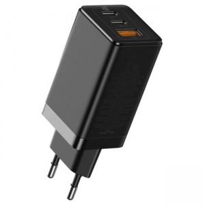 شارژر دیواری فست شارژ 65وات بیسوس به همراه کابل مدل Baseus GaN2 Pro QC4+ Dual Type-C and USB A  دوشاخه CN