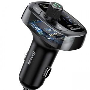 شارژر فندکی و پخش کننده بلوتوث Baseus T Typed Bluetooth فلش و رم خور