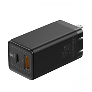 شارژر دیواری فست شارژ بیسوس Baseus GaN2 Quick Charger Dual Port CCGAN-X01 45W CN توان 45 وات