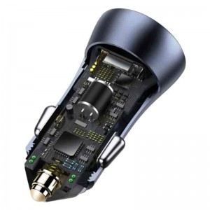 شارژر فندکی بیسوس Baseus CCJD-0G Golden Contactor Pro Dual Quick Charger توان 40W