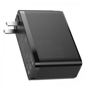 شارژر دیواری فست شارژ Baseus GaN2 Pro Quick Charger 2C+2U CCGAN2P-L01 QC4 PD توان 100 وات همراه کابل دوشاخه ایرانی