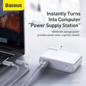 پاوربانک 10000 و شارژر دیواری بیسوس Baseus Power Station GaN 2 in 1 PPNLD-F01 45W توان 45 وات