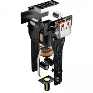 شارژر فندکی فست شارژ بیسوس Baseus Superme Digital Display CCZX-100C TZCCZX-01 توان 100 وات با کابل