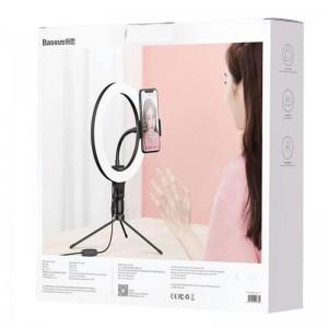 رینگ لایت بیسوس Baseus Live Stream Holder-table Stand Ring Light CRZB10-A01 با پایه 20 سانتی و هولدر