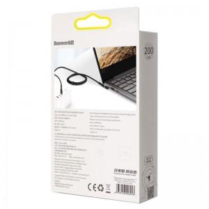 کابل شارژر مگنتی لپ تاپ بیسوس Baseus Zinc Lenovo Type C to DC طول 2 متر توان 100 وات