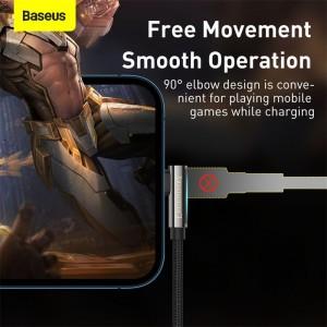 کابل لایتنینگ بیسوس Baseus Legend Series Elbow USB to iP   توان 2.4 آمپر
