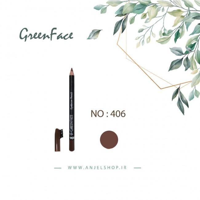مداد ابرو گرین فیس کد 406