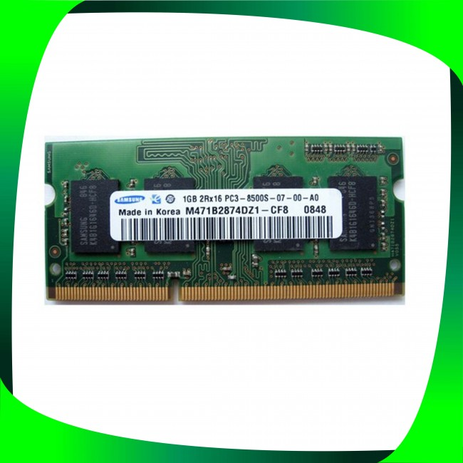 رم استوک لپ تاپ DDR3 تک کاناله 1066  ظرفیت 1 گیگابایت
