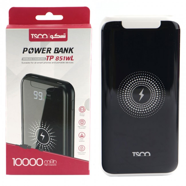 پاور بانک بی سیم ۱۰۰۰۰ تسکو TSCO TP851WL