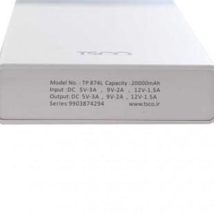 پاور بانک فست شارژ ۲۰۰۰۰ تسکو TSCO TP 874L