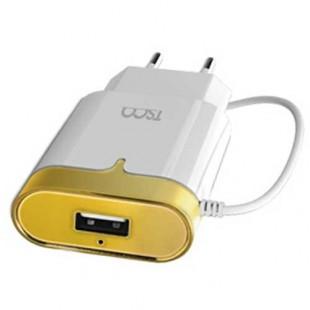 شارژر سیم وصل میکرو یو اس بی TSCO TTC 50 + یک پورت USB