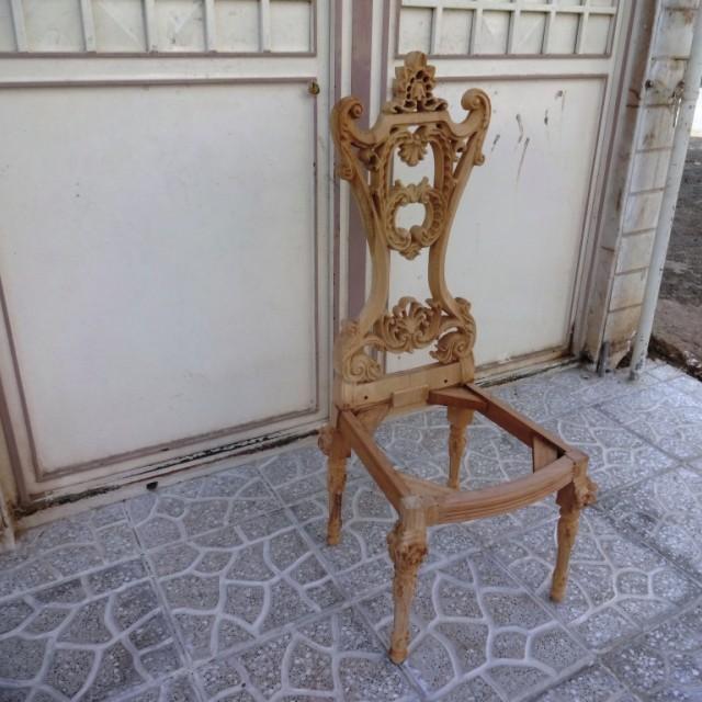 صندلی منبتی مدل فرشته خام کد 154