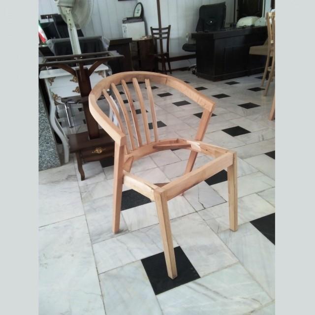 صندلی سبدی راش خام کد 157