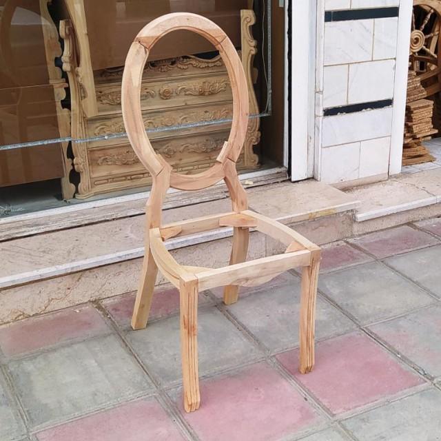 صندلی مدل ستاره ساده خام کد 163