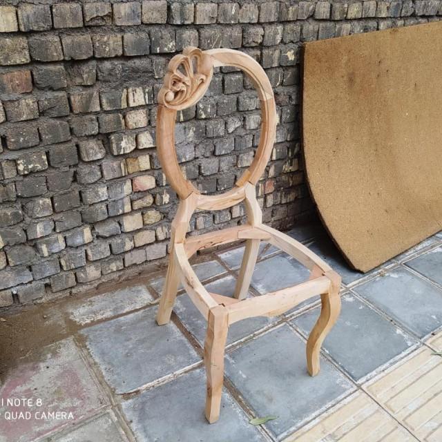 صندلی مدل ستاره منبتی خام کد 164