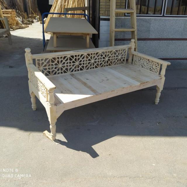 تخت سنتی مشبک خام کد 952