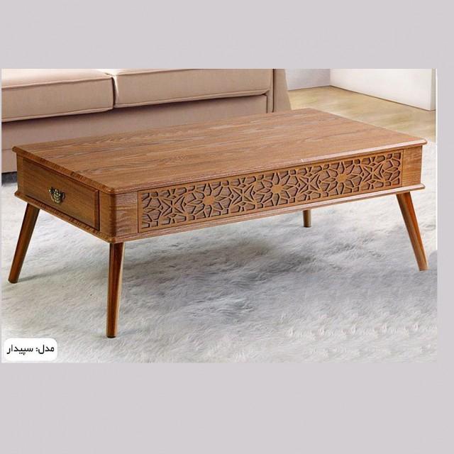 میز جلومبلی و عسلی مدل سپیدار کد 1708