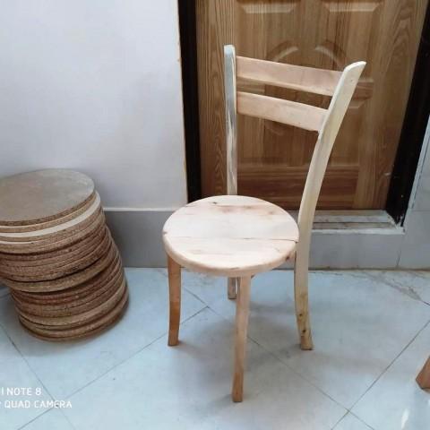 صندلی 2 تیره کف چوب خام کد 170