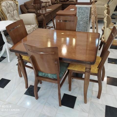 میز 4 نفره مکعبی با صندلی مهتاب کد 1552