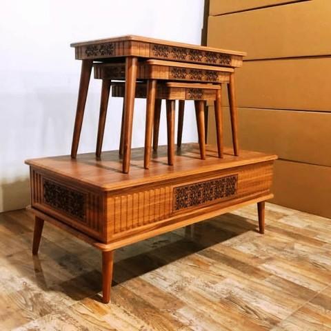میز عسلی و جلو مبلی مدل دینا کد 1713