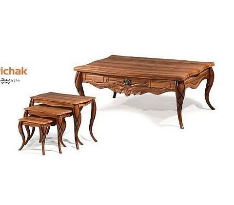 میز جلومبلی و عسلی مدل پیچک کد 1706
