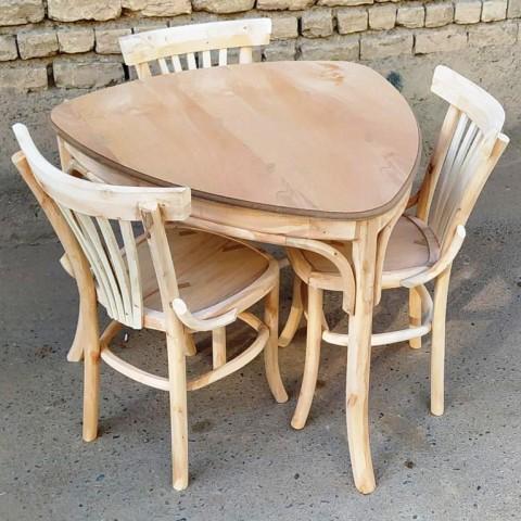 میز 3 نفره لهستانی با صندلی لهستانی کد 508