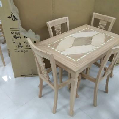 میز و صندلی غذاخوری شیدا راش کد 502