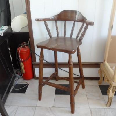 صندلی اوپن کف چوب دسته دار مدل 1001