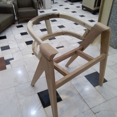 صندلی لگنی چوب راش کد 137