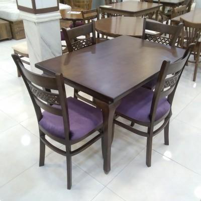 میز 4 نفره چپندر با صندلی پازل کد 1510