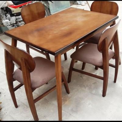 میز لوله ای با صندلی فیلی راش کد 1511