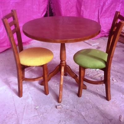 میز 2 نفره خاطره با صندلی طوقه دار کد 1513