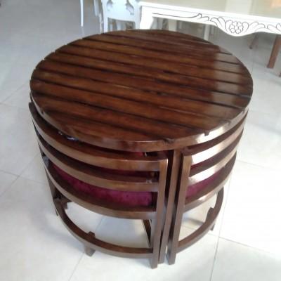 میز کمجا آماده صفحه چوبی کد 1517