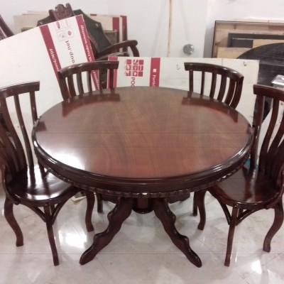 میز عروس 6 نفره با صندلی سناتور راش کد 1518