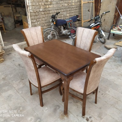 میز چپندر 4 نفره با صندلی مبلی کد 1520