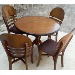 تولیدی صندلی مروارید با میز گرد