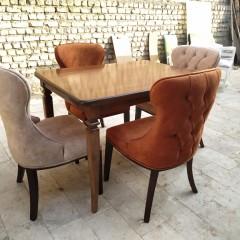 پخش صندلی چستر با میز مکعبی